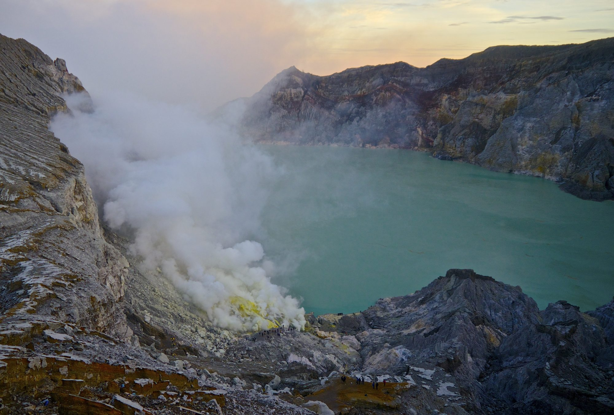 Kawah Ijen Volcano Blue Fire And Sulfur Miners Erika S