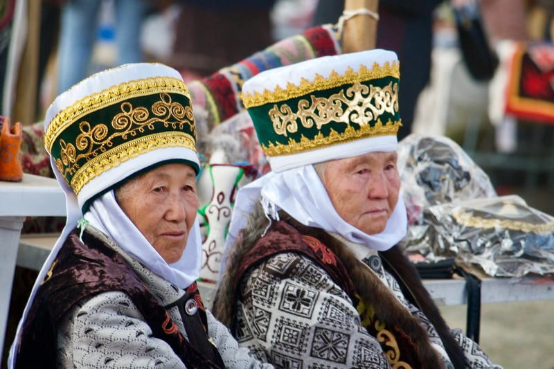 Kyrgyz Women Attending the World Nomad Games in their Traditional Dress